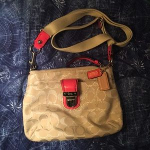 Never used coach cross body bag!